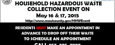 Maui Household Hazardous Waste Collection Event